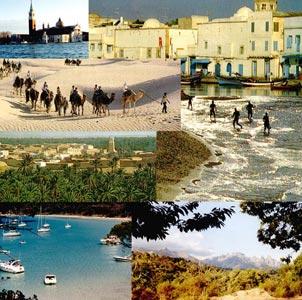 Mosaïque photos côtes